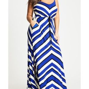 abc0f42959d35 City Chic Dresses - City Chic bold stripe maxi dress plus size 22
